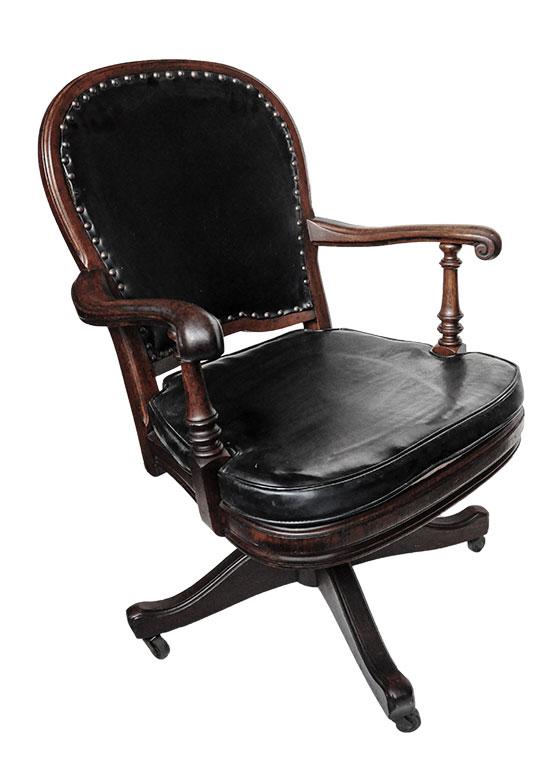 Carved Walnut Desk Chair