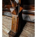 Stunning Carved Walnut, Gothic Sideboard, with Marble Counter Top