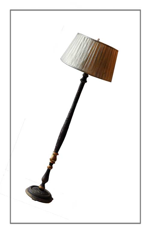 Plaster Floor Lamp, with Artful Stand & Shade