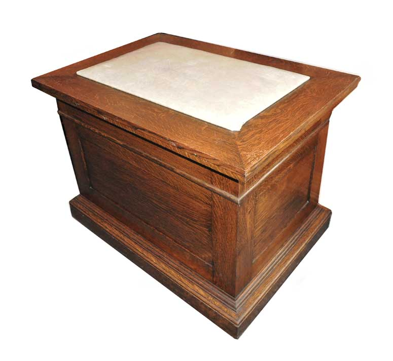 Oak Podium, with Leather Top