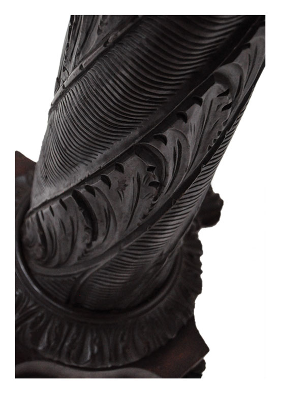 Ornate Carved Mahogany Pedestal