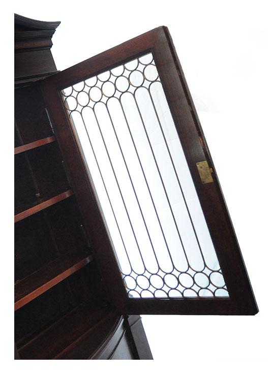 Classic Mahogany Bookcase, with Zinc Glass, Circa 1910