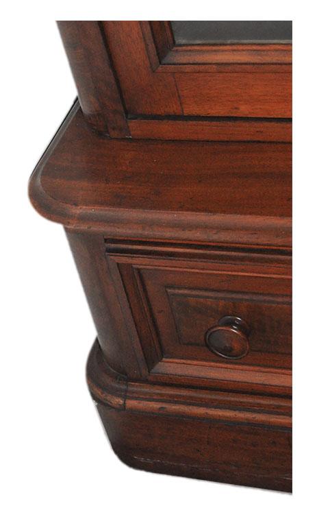Two-Door, Walnut Bookcase