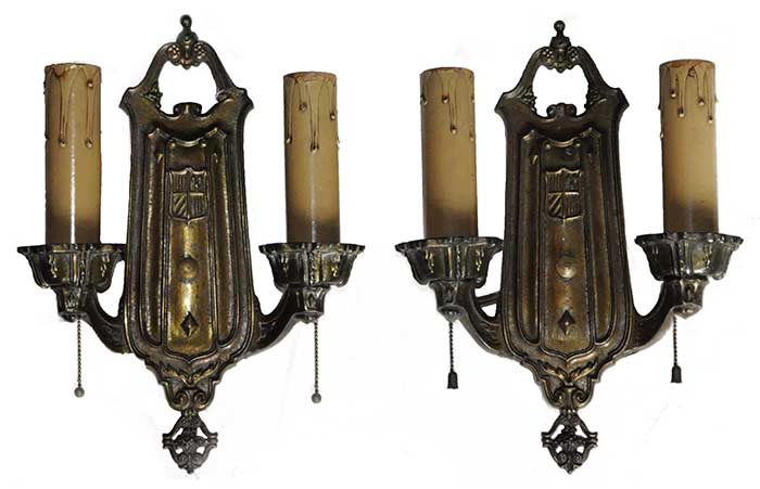 Pair of Double-Armed Sconces