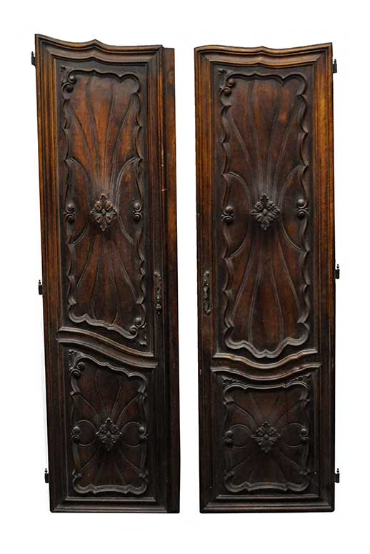 Pair of Deeply Carved French Armoire Doors