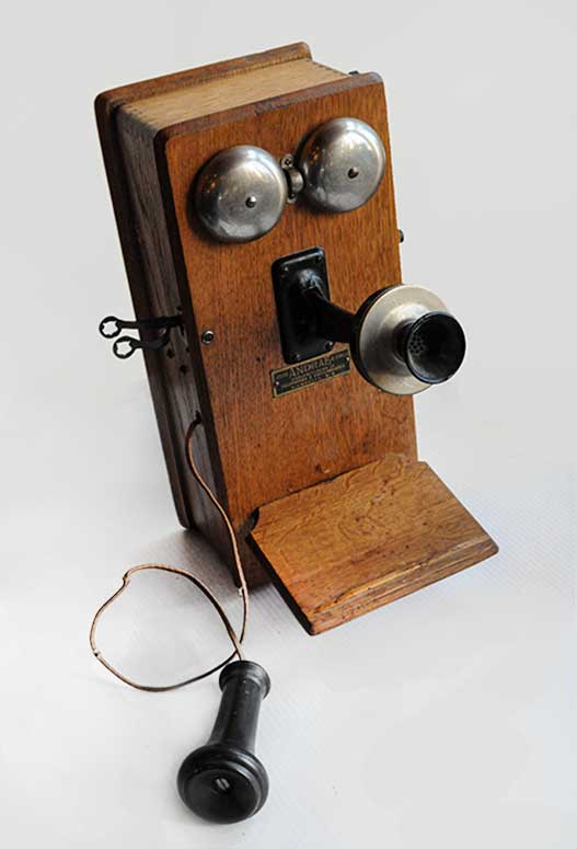 Vintage Hand-Cranked Box Telephone, Circa 1905-1910