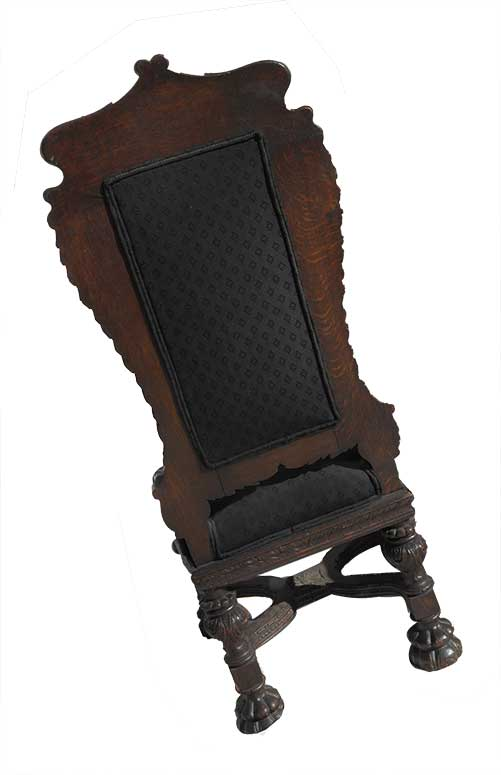 Set of 8 Carved Oak Chairs, Circa Turn of the Century