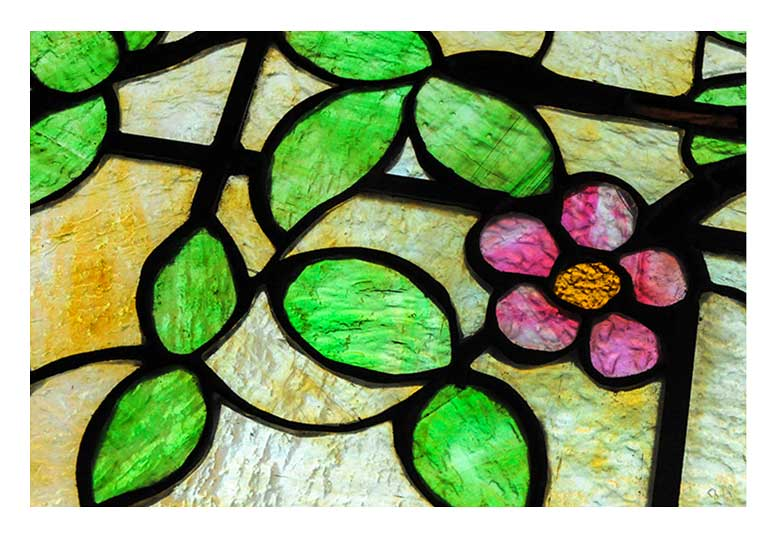 Stained Glass Window, with Rippled Glass