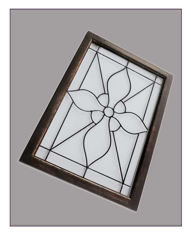 Clear Beveled Glass Window