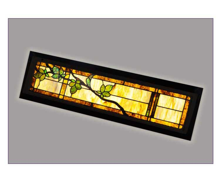 Stained Glass Transom Window, with Vine