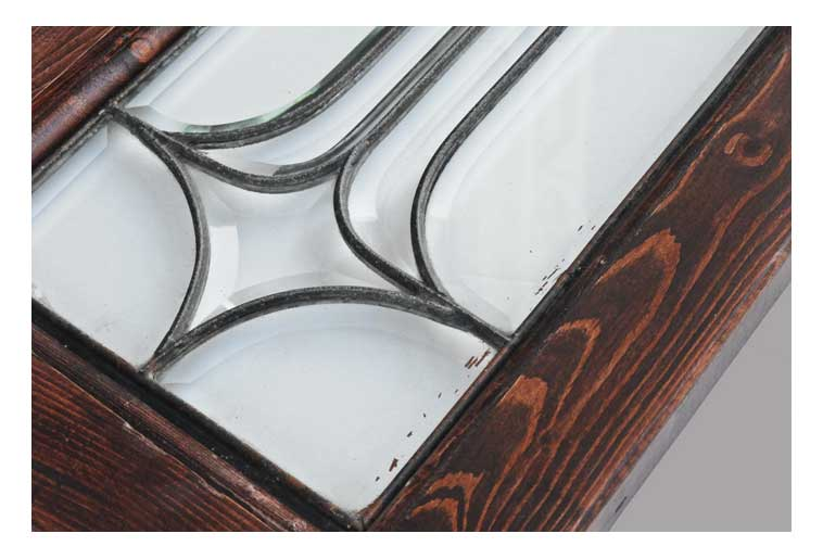 Pair of Clear, Beveled Sidelights