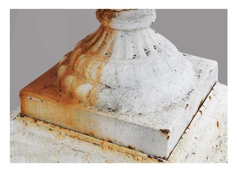 Salvaged Cast Iron Urn