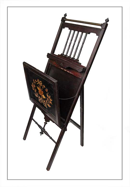 Victorian Easel Stand, with Inlays