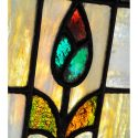 Stained Glass Transom Window, with Floral Theme