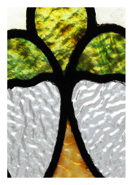 Pastoral Stained Glass Window, with Textured Glass