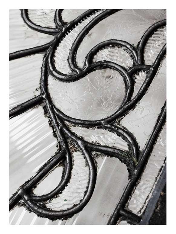 Artful Transom Window, with Textured Glass