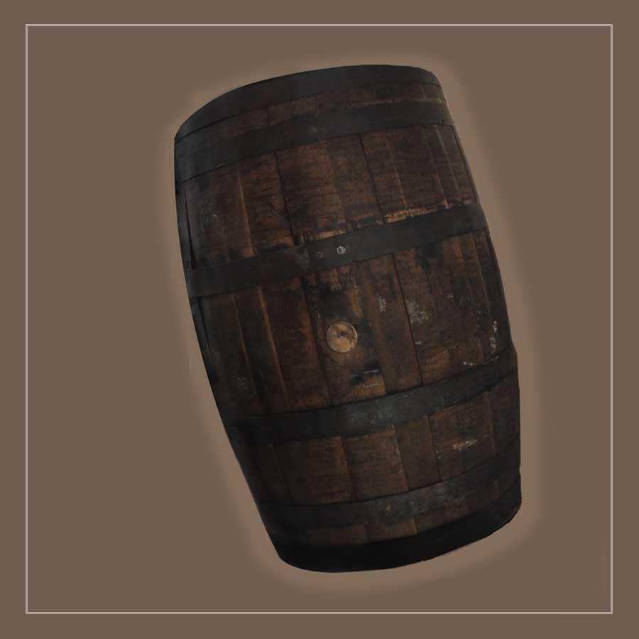 Salvaged Wooden Bourbon Barrel