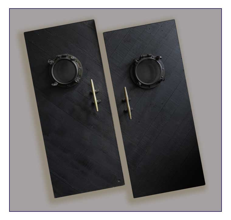 Set of Four Porthole Doors