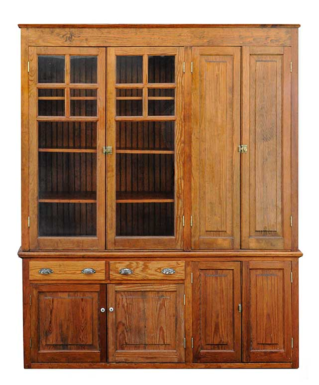 Versatile Pine Cabinet, with Glass Doors