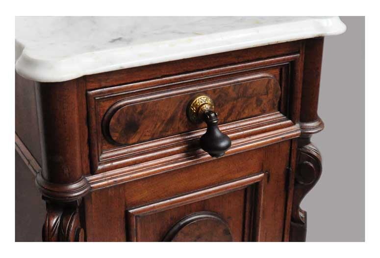 Small, Marble-Top Half Commode