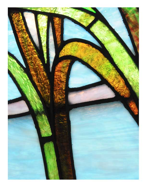 Vintage, Double-Hung Stained Glass Window