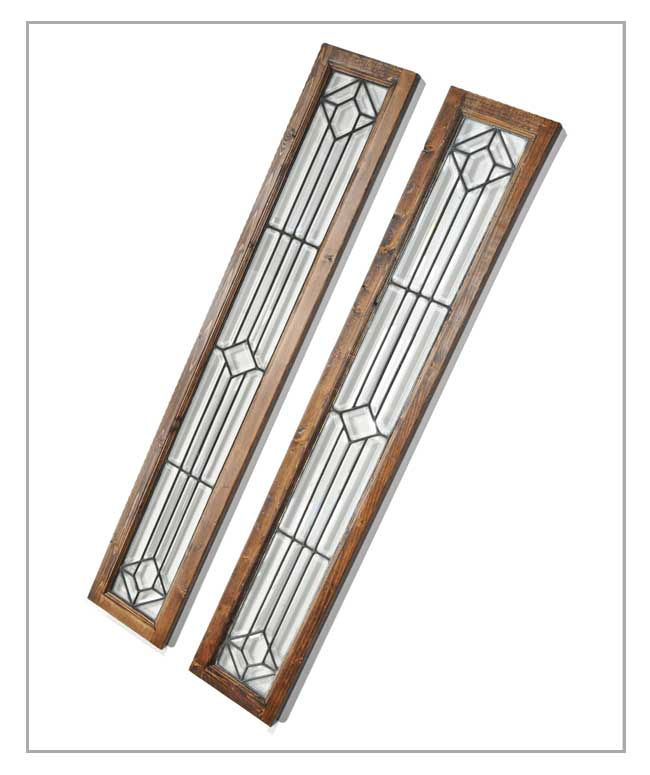 Nice Pair of Beveled Glass Sidelights