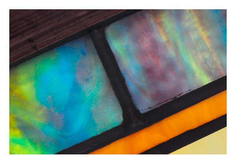 Vivid Pair of Stained Glass Panels