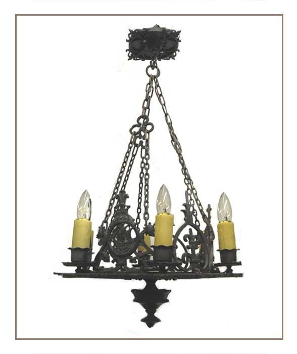 Six-Armed, Iron Tudor Light