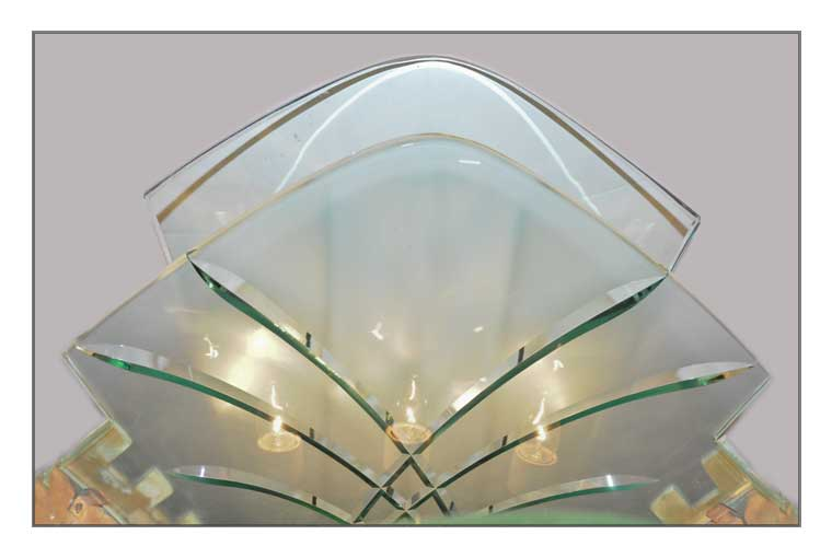 Eye-Popping Art Deco Lobby Light, with Extended Glass Panel
