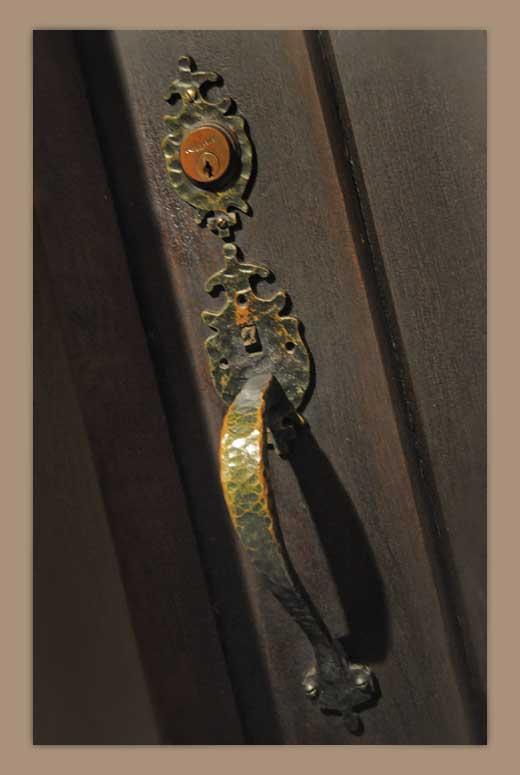 Arched English Tudor Door, with Screen Door & Window