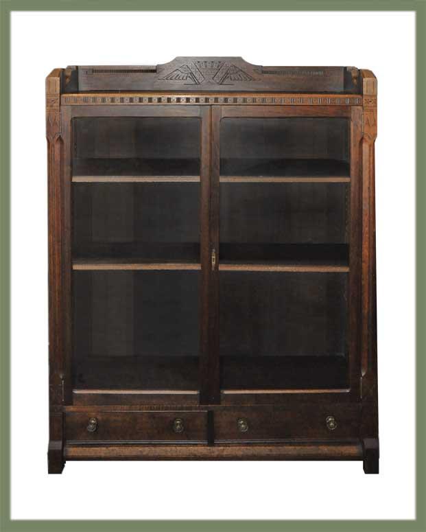 Walnut Eastlake Bookcase