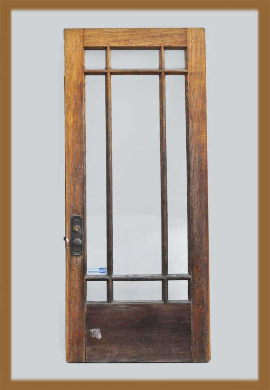 Oak French Door, with Glass Panes