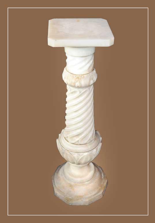 Nicely Carved Alabaster Pedestal