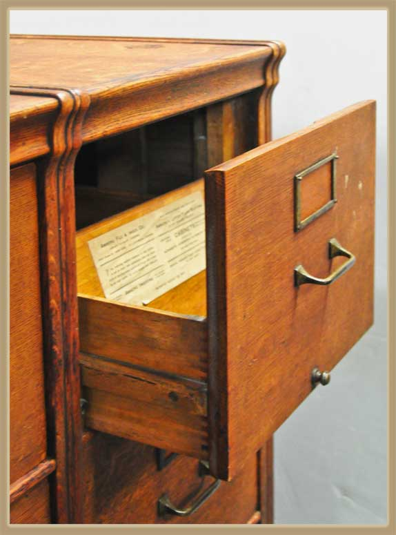 Double-Stack Oak Filing Cabinet, Early 1900s