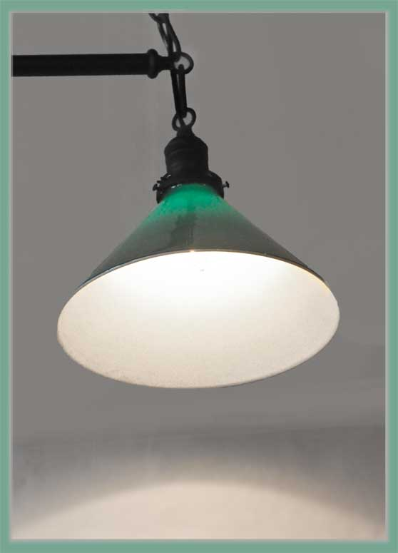 Twin-Shade Pool Table Light, with Adjustable Chain