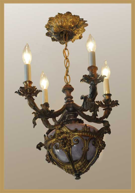 Small, Four-Armed, French Chandelier