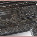 Dark Mahogany Continental-Style Mirror