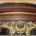 Carved Mahogany Vitrine, with Inlays & Curved Glass Door