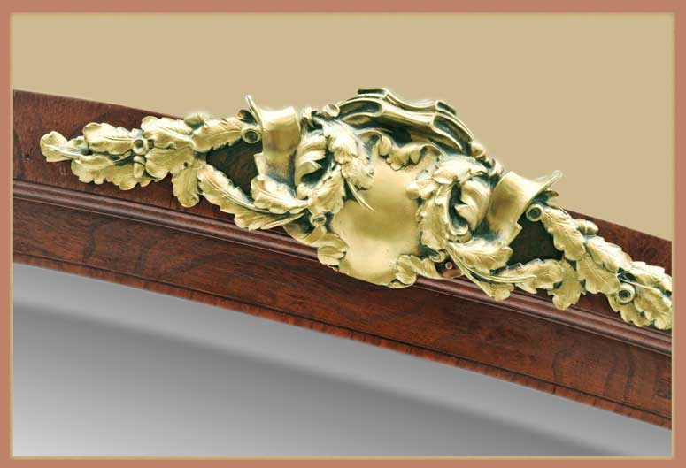 Carved Walnut French Server, with Ormolu Detail & Marble Counter