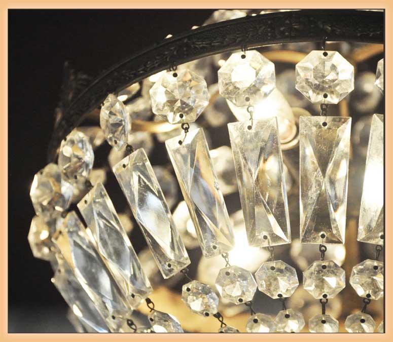 Small, Crystal Basket Light