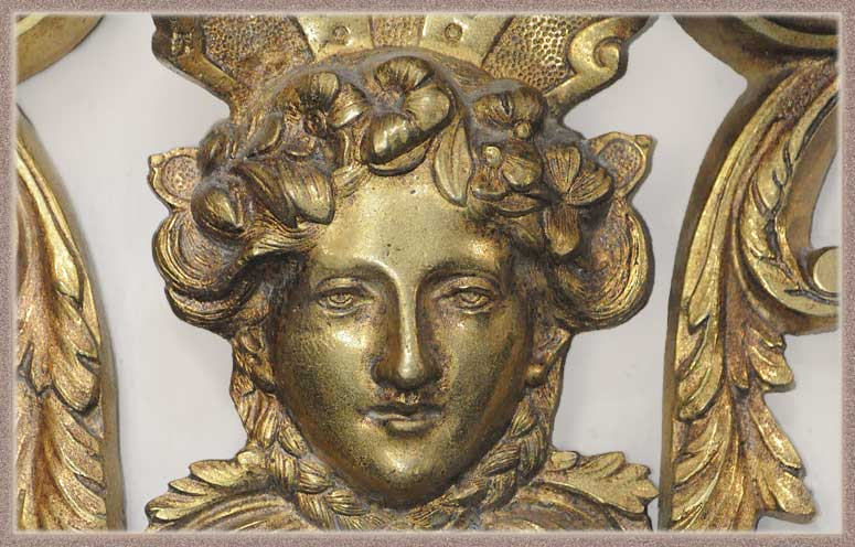 Pair of Ornate, Five-Armed Brass Sconces