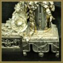 Pair of Fancy Polished Brass Andirons