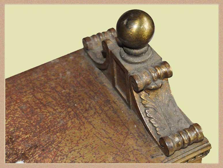 Ornamental Brass Bank Desk Calendar Frame