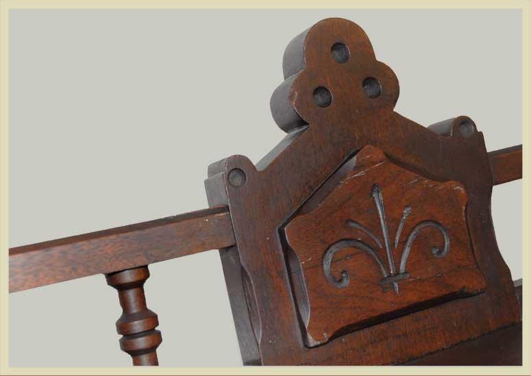 Small, Walnut, Two-Door Stepback Bookcase