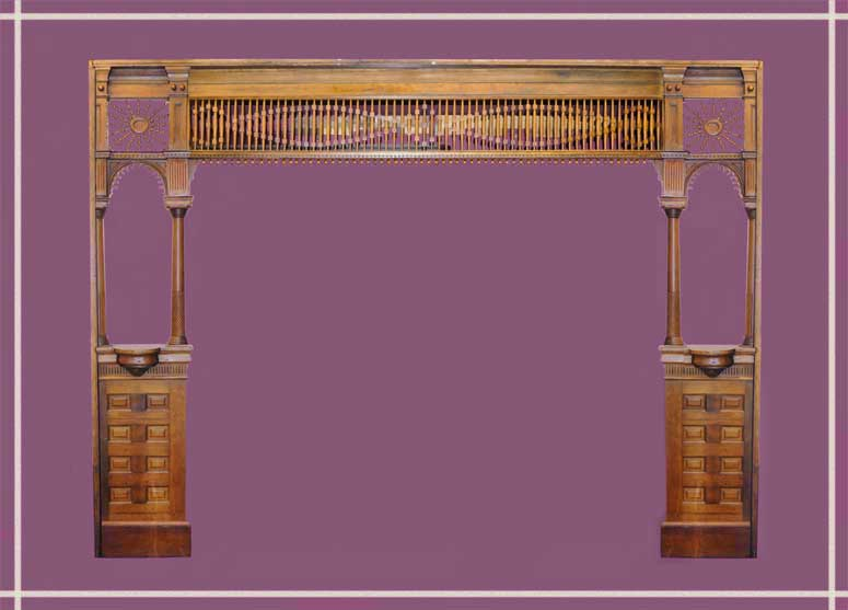 Room-Sized Carved Fretwork Surround/Divider