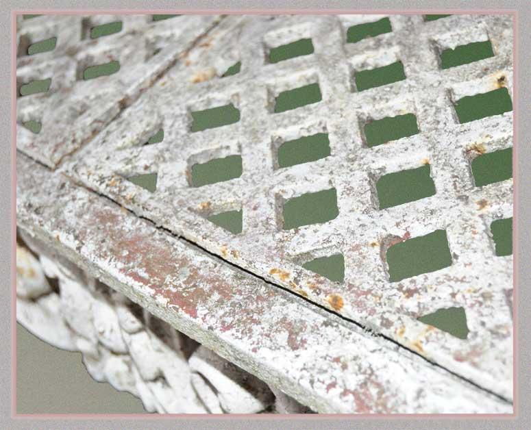 White Iron Garden Bench