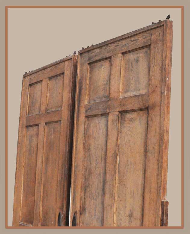 Pair of Vintage Oak Pocket Doors