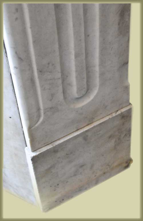 White Marble Half Mantel, with Arch