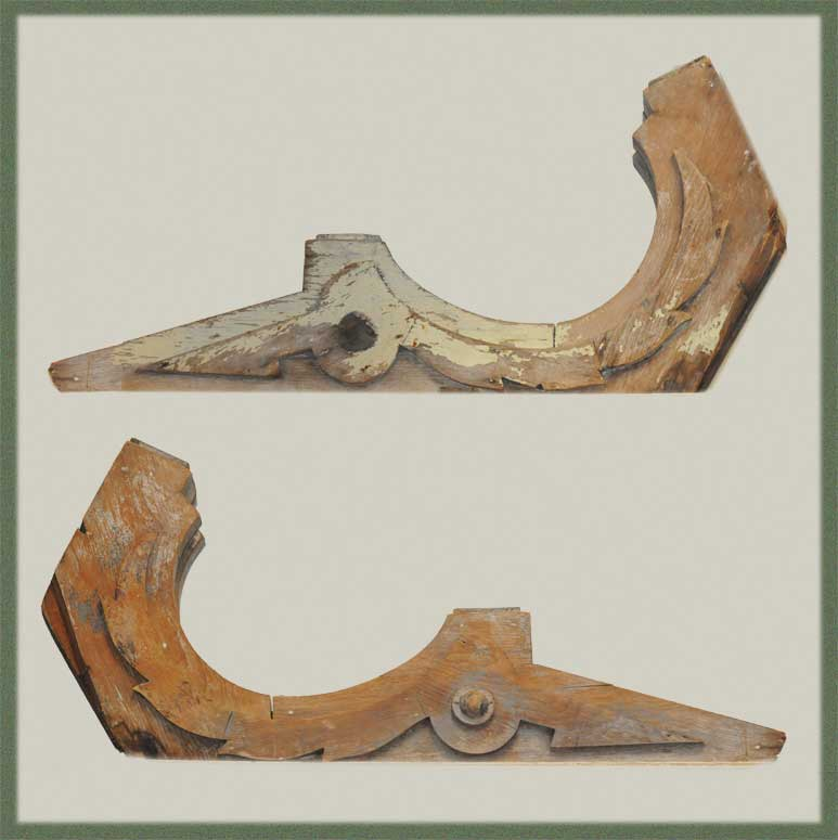 Pair of Natural Wood Corbels