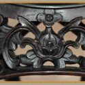 Medium Carved 1880s Chinese Table, with Round Marble Top